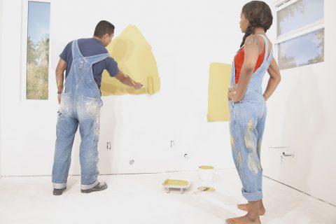 tâches de peinture